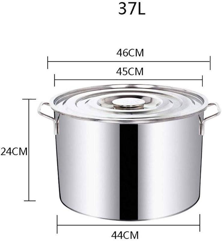 LYMUP Stock Pot Grand D en Acier Inoxydable Marmite Professionnelle /à Induction-Safe en Acier Inoxydable Marmite avec Couvercle Non Collant