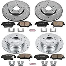 Power Stop K5376 Front and Rear Z23 Evolution Brake Kit with Drilled/Slotted Rotors and Ceramic Brake Pads