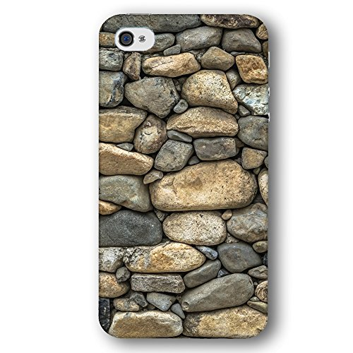 Cooliphone4Cases.com-2577-Classic Vintage Stone Rock Wall Patter Apple iPhone 4 / 4S Phone Case-B01LXTR8PZ-T Shirt Design