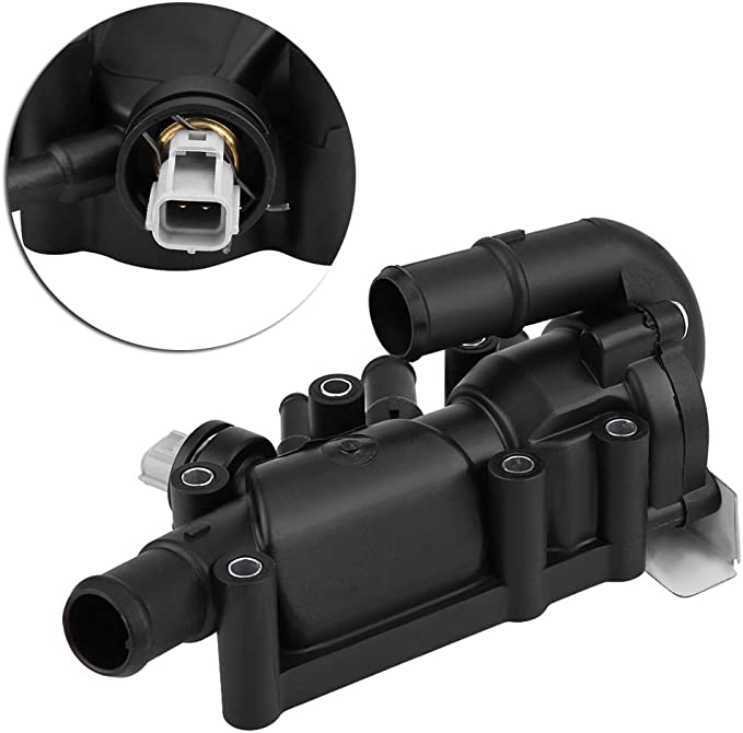 Kimiss Kühlwasser Auslass Thermostat Für Automotor Kühlmittel Thermostat Gehäuse Dichtung Sensorthermostatgehäuse Für V 1 3 Auto