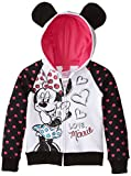 Disney Little Girls' Love Minnie Hoodie with Mouse Ears, Black, 5