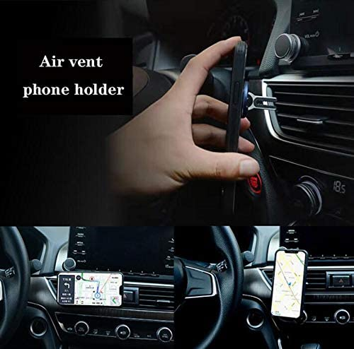 2 Pack 2-in-1 Car Air Vent Finger Ring Bracket Phone Mount Holder Feeke Phone Bracket