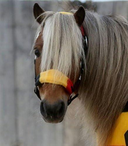 Fleece weich Halfter Fleece umrandet Minishetty Mini Shetty Minipony Stripes Gray Star Zebra Tysons Nylonhalfter