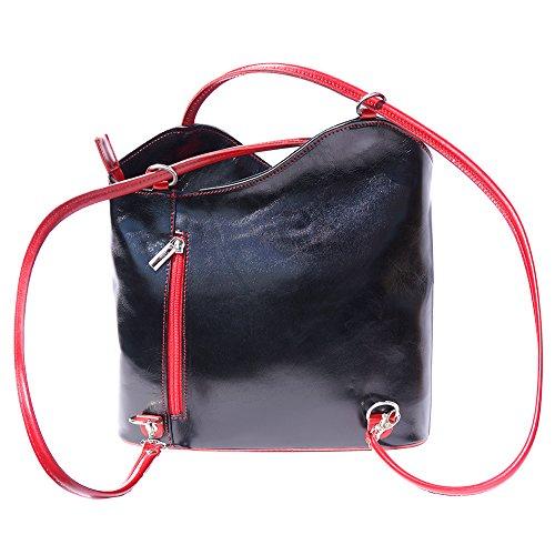 à dos Noir transformable 207 èpaule à sac sac en rouge qfXc7
