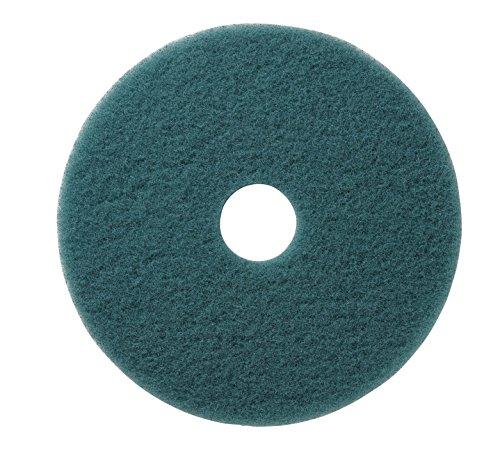 Aqua Burnishing Floor Pads - Americo Manufacturing 402317 Aqua Ultra High Speed Synthetic Fiber Burnishing Floor Pad (5 Pack), 17
