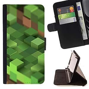 BullDog Case - FOR/Sony Xperia Z2 D6502 / - / craft game computer mine blocks pc /- Monedero de cuero de la PU Llevar cubierta de la caja con el ID Credit Card Slots Flip funda de cuer