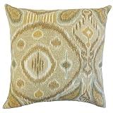 The Pillow Collection Janvier Ikat Floor Pillow Rattan