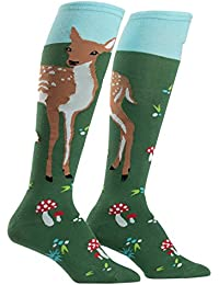 Fawn Memories Womens Knee High Tube Socks,One Size Fits Most,Multi