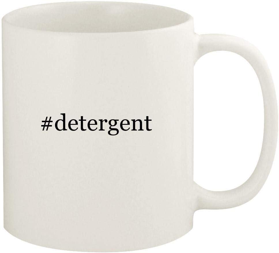 #detergent - 11oz Hashtag Ceramic White Coffee Mug Cup, White