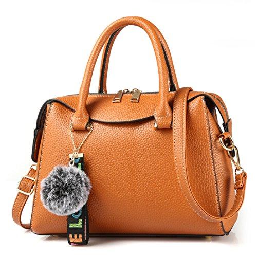 main la sacoche en à main Hobo porte Sac cuir monnaie tout fourre Luckywe cuir en broderie Orange à q6EBfx