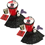 Emergency Zone Honey Bucket Style Toilet Complete Set with Liner and Chemicals. 2 Pack