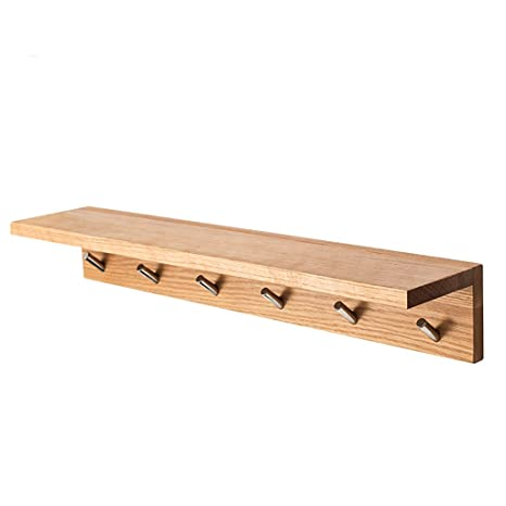 Amazon.com: Perchero de madera maciza, estante de pared para ...