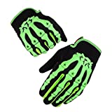 Kungken Cycling Racing Sport Bike Mountain Bicycle Motorcycle Padded Ghost Skeleton Bone Gloves