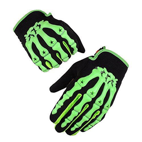 Kungken Cycling Racing Sport Bike Mountain Bicycle Motorcycle Padded Ghost Skeleton Bone Gloves by Kungken