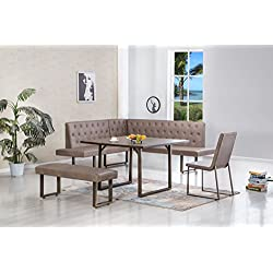 James Corner Breakfast Nook Dining Set
