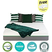 12 inch GEL Memory Foam Mattress - Certipur-US Certified - Medium Firm - 20-Year Warranty – Full - with FREE Protector and Pillow