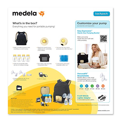 in backpack pump Medela style breast pump