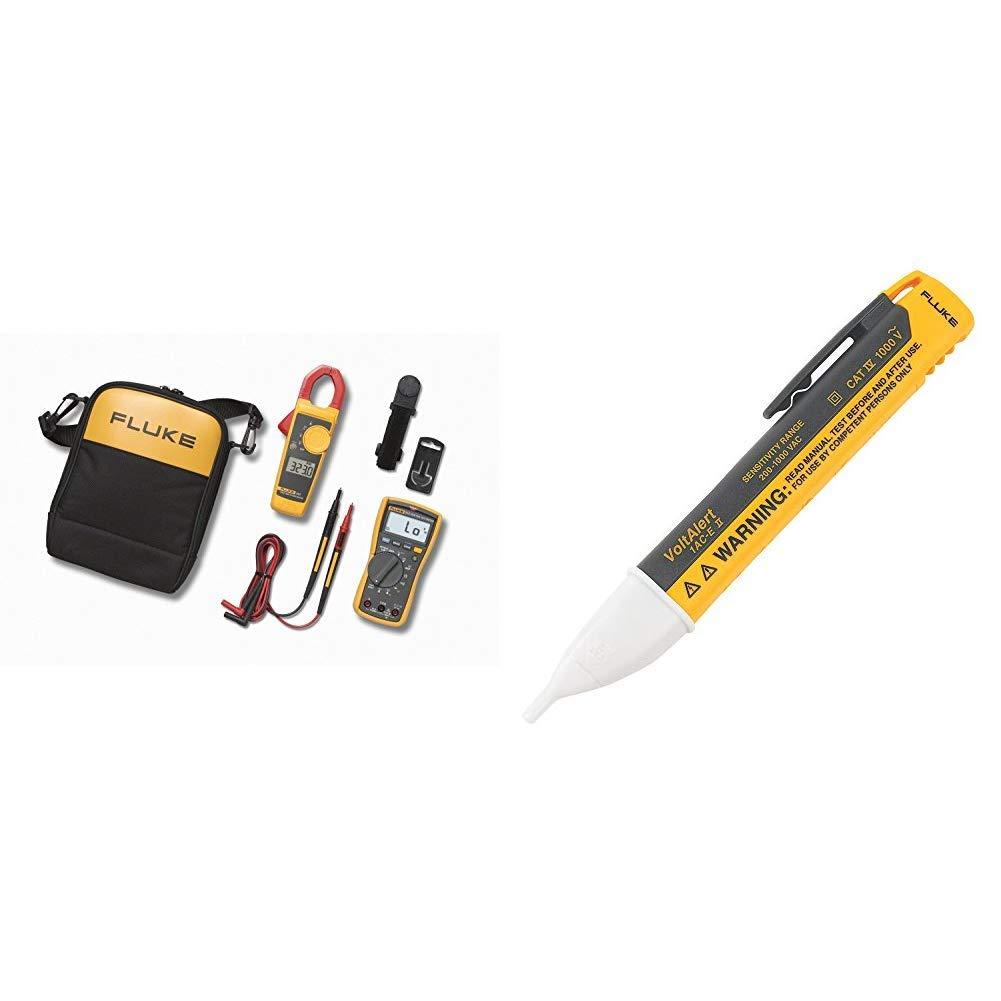 1AC-A1-II VoltAlert Non-Contact Voltage Tester Fluke 117//323 KIT Multimeter and Clamp Meter Combo Kit