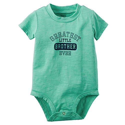 Carters Baby Boys Greatest Little Brother Bodysuit 12 Months Turquoise - Suit Brothers Blues
