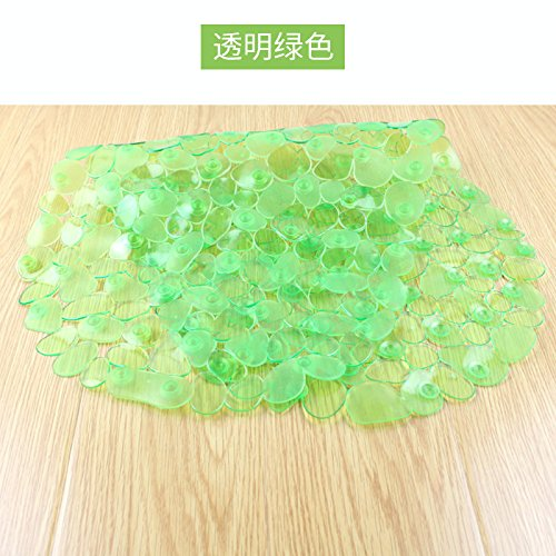 Green TS-nslixuan Large Pebble Shower Mat Bathroom Suction Anti Non Slip Bath Wet Room Toilet Deco,Pink