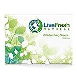 LiveFresh Natural Oil Blotting Paper, Large 100