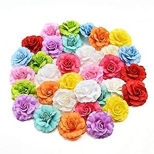 silk flowers in bulk wholesale Fake Flowers Heads Silk Orchid Artificial Flower Head for Wedding Decoration DIY Wreath Gift Scrapbooking Craft Fake Flowers 30pcs/lot 4.5cm 111