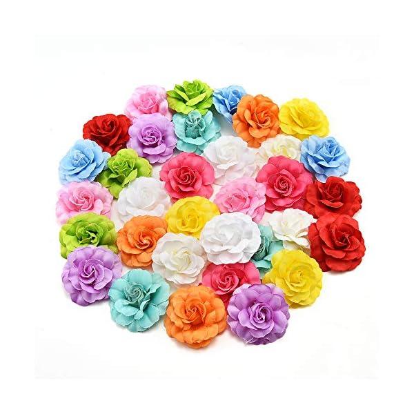 50pcs Silk Artifical Flower Leaves Bouquet Garland Wreath Cap Garden DIY Craft