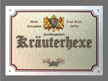Metallschild Kräuterhexe Schild Hessen Xxl 36 X 28 Cm Amazonde