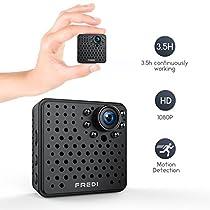 FREDI HD 1080P wireless ip telecamera spy cam mini telecamera videocamera wifi nascosta spia fotografica con movimento investigativo di sorveglianza sicurezza domestica sostegno max 128GB scheda sd (non inclusa)