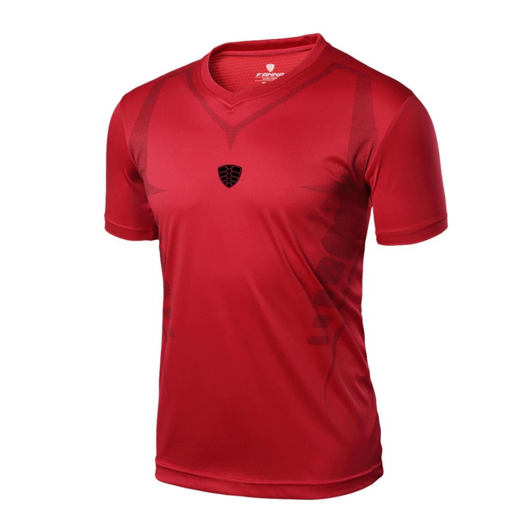 Easytoy Men Quick Dry Base Layer Top Workout Slim Fit Stretch Short Sleeve Shirt