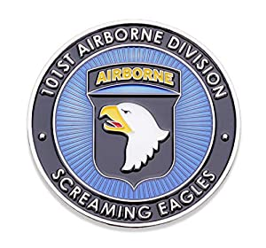 101st U.S. Army Airborne Challenge Coin! Amazing US Army Custom Coin, 101st Airborne Military Challenge Coin! Designed by Military Veterans! Officially Licensed Product! by Coins For Anything Inc