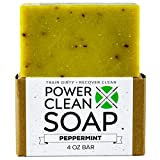 Organic Peppermint Soap Bar. 100% All Natural and Organic. Peppermint Essential Oil, Organic Coconut Oil and Rosemary Extract. For Athletes of all Sports. Chemical Free- No GMOs – SLS Free. 4 oz Bars
