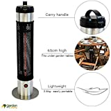Airwave 800W Infrared Small & Portable Stainless Steel Electric Patio Heater - Perfect for the Garden, Balcony, Table
