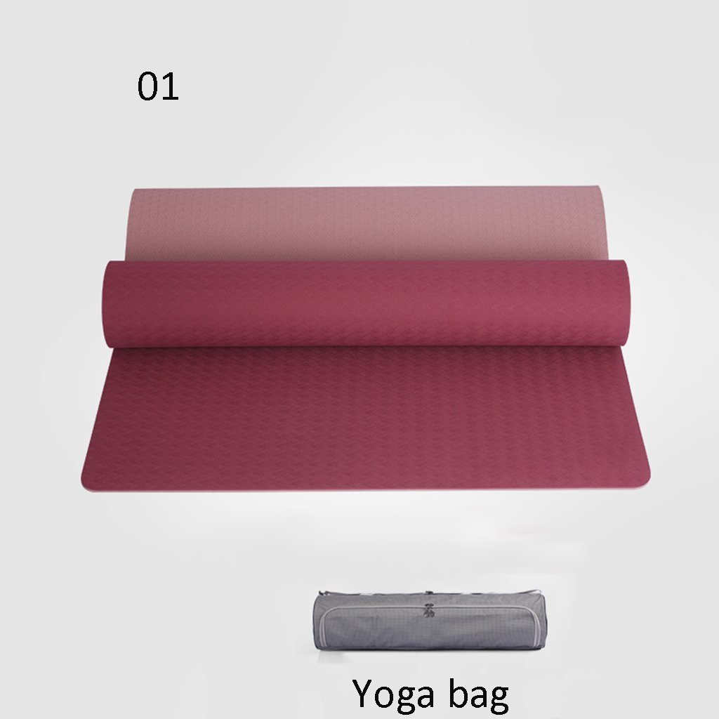 A EU8 Tapis de Yoga Couverture de Yoga Professionnelle Tapis Tapis d'exercice antidérapante Remise en Forme 6mm
