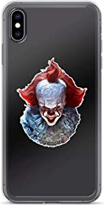It. Simplified Colors Version IT The Horror Movie Pennywise Halloween Clear Shockproof Case for iPhone Xs Max