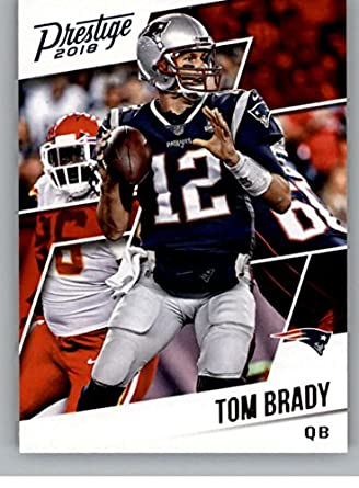 2018 Prestige Nfl 75 Tom Brady New England Patriots Panini Football Card