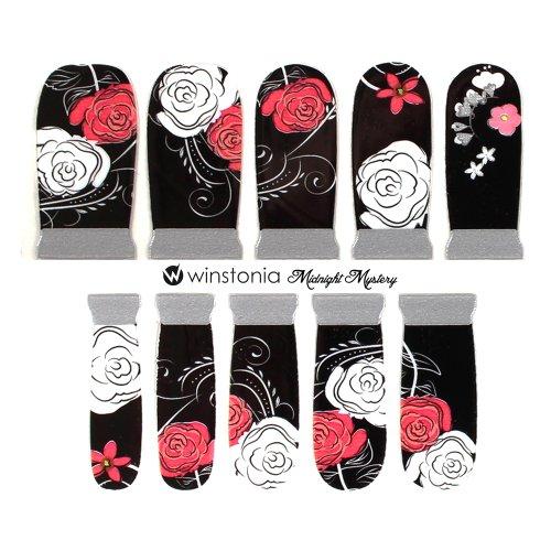 Winstonia Designer Nail Wrap Strips - Midnight Mystery ()