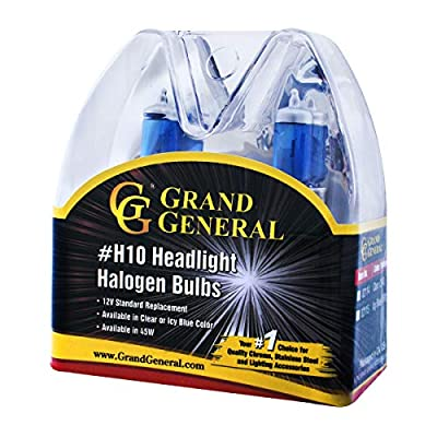 Grand General 82115 Icy Blue Headlight (H8 Halogen Bulbs Twin Pack, 12V/35W): Automotive