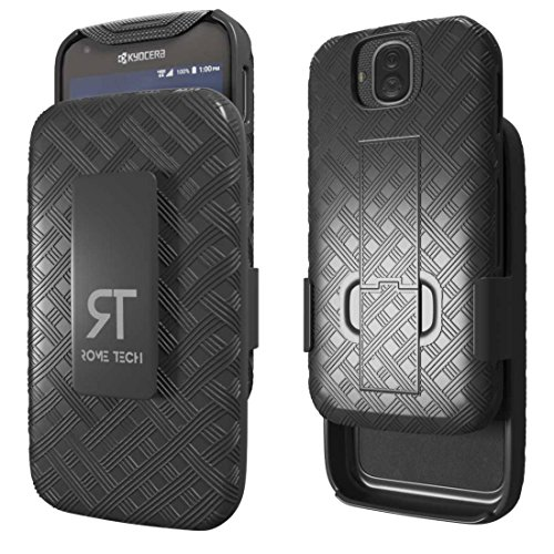 DuraForce Pro Case, Rome Tech OEM Protective Slim Cell Phone Case Kickstand Clip Holster Kyocera DuraForce Pro E6810 E6820 E6830 - Black from Rome Tech