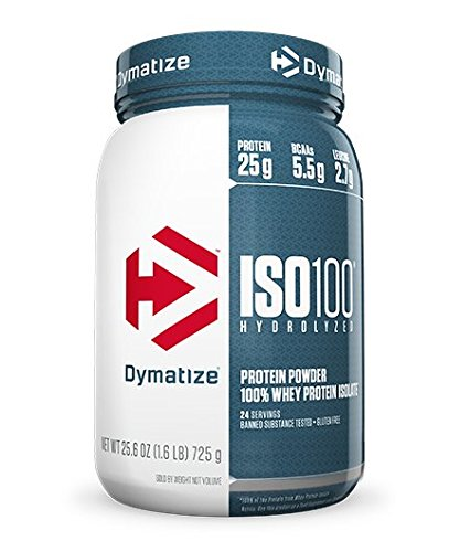 Dymatize ISO 100 Gourmet, Chocolate Powder, 5 Pounds (Pack of 6) by Dymatize