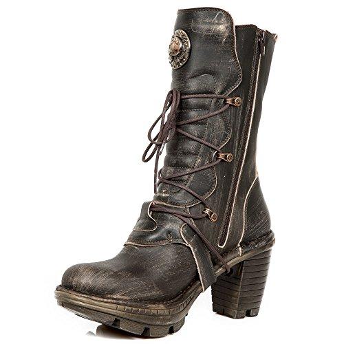 Nuovo Rock A Mano M Neotr005 C24 Braun Damen Stiefel