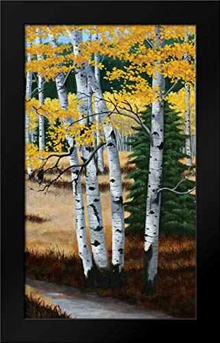 Trail into The Aspens I 25x40 Modern Black Wood Framed Art Print by Peterson, Julie