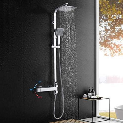BXU-BG バスサーモスタットシャワー蛇口セットバスタブレインシャワーミキサーサーモスタットシャワーウォールマウント浴室のシャワーシステム