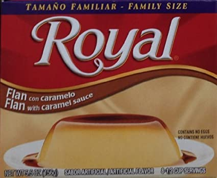 Royal FLAN with CARAMEL SAUCE 5.5oz (9-Pack) by Royal: Amazon.com: Grocery & Gourmet Food