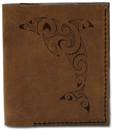 MHLT Sharp Sharp Abstract Abstract Leather 04 5 Genuine Handmade Wallet Natural b Men's dST0wHxqH
