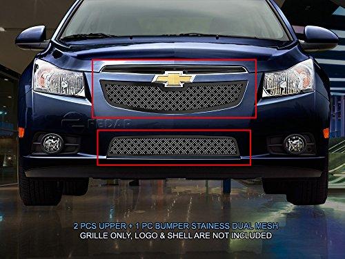 (Fedar Dual Weave Mesh Grille for 2011-2014 Chevy Cruze LT/LTZ Selected Models)
