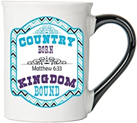 Country Born Kingdom Bound ( Matthew 6:33) Mug , Inspirational Coffee Cup, Inspirational Mug, Ceramic Mug, Custom Inspirational Gifts By Tumbleweed