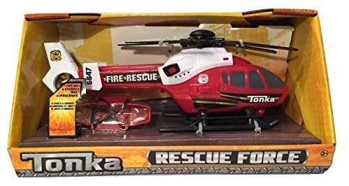 (Tonka Rescue Force Fire Rescue Helicopter Red and White)