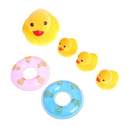 40a7d56ccddf3 Amazon.com: GonPi | Bath Toys | 1 lot 6pcs/Set Yellow Rubber Duck ...