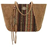 American West Bandana Carry All Travel Tote (Brown Serape)